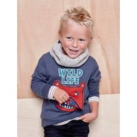 Cable-Knit Snood with Polar Fleece Lining for Boys beige light mixed color
