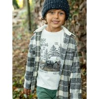 Top with Photoprint Motif for Boys white light mixed color