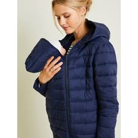 Lightweight Padded Jacket, Adaptable for Maternity and Post-Maternity dark blue