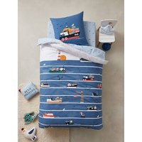 Children's Duvet Cover + Pillowcase Set, Dockers Theme blue.