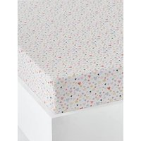 Fitted Sheet for Children, Happy Hearts Theme white/print.