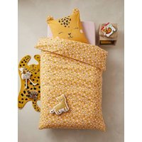Children's Duvet Cover + Pillowcase Set, Sweet Panthere Theme yellow/print.