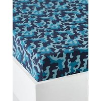 Children's Fitted Sheet, TIGER Theme blue/print.