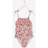 Swimsuit with Floral Print for Girls pink/print.