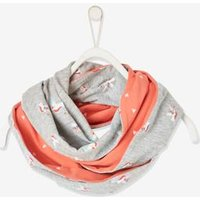 Reversible Snood, Unicorn and Hearts, for Girls grey light mixed color