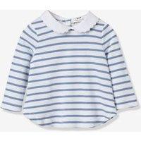 Baby's stripe T-shirt blue stripes