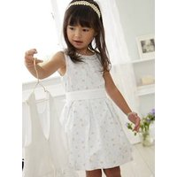 Occasion Wear Dress with Retro Chic Print white/print