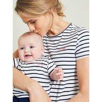 Gift Set, T-Shirt for Mum + T-Shirt for Baby white stripes