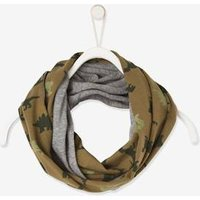 Reversible Snood green dark all over printed