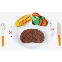 22-piece Wooden Steak Dinner Set muticolour