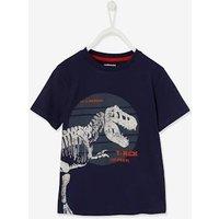 T-Shirt with Large Dinosaur, for Boys dark blue at Vertbaudet