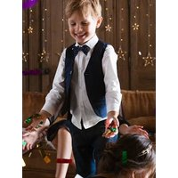 Special Occasion 3-Item Set: Shirt + Waistcoat + Bow-tie, for Boys white