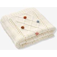 Knitted Blanket white.