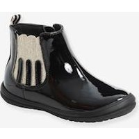 Patent Leather Boots for Girls, Designed for Autonomy black