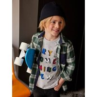 T-Shirt with Graphic Message for Boys grey.
