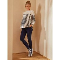 Skinny Leg Maternity Jeans with Seamless Belly-Wrap grey anthracite