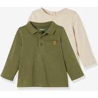 Pack with Top + Polo Shirt for Newborn Baby green