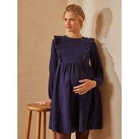 Cotton Gauze Dress, Maternity and Nursing Special dark blue
