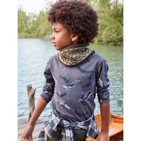 Long Sleeve Oeko-Tex ® Top with Whales, for Boys blue/print.