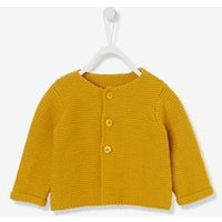 Babys Garter Stitch Knit Cardigan grey light metallized