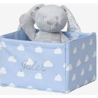 Small Storage Box in Fabric blue light all over printed