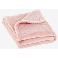 Polka Dot Fleece Blanket pink light all over printed
