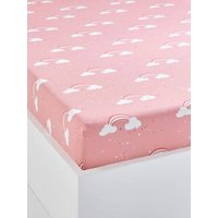 Children's Fitted Sheet, Unicorn Theme pink light all over printed