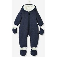 Baby Star-padded Jumpsuit Blue Dark Solid