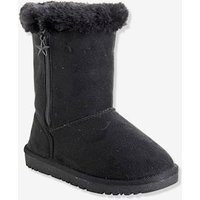 Girls' Boots with Fur beige light metalised