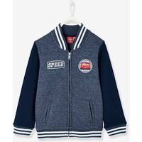 Boys' Teddy-Style Jacket, Cars ® Theme blue dark solid with design