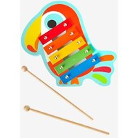Xylophone Toucan blue medium solid with design