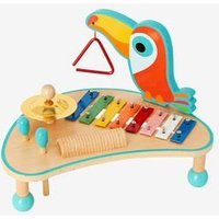 Wooden Musical Activity Table blue medium solid with design