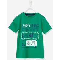 Boys T-Shirt with Wording green light solid with design