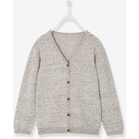 Boys V-Neck Cardigan grey light mixed color