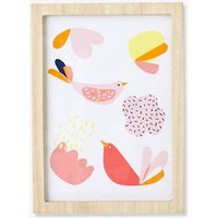 Decorative Picture, Birdy Love pink light solid with design