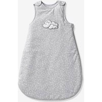 Sleeveless Baby Sleep Bag, Celestial Cloud grey/print.