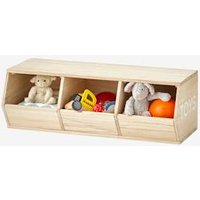 VERTBAUDET 3-Box Unit, Toys beige light solid with design Storage Chests