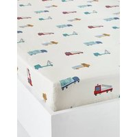 Children's Fitted Sheet, Fun Ride Theme white light all over printed