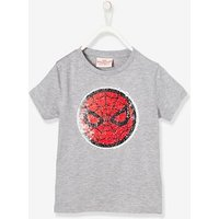 Boys Spiderman® T-Shirt with Reversible Sequins grey medium solid with design