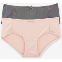 Pack of 2 Maternity Microfibre Briefs beige light two color/multicol
