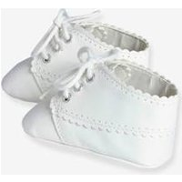 Newborn Baby Soft Lace-Up Ankle Boots white