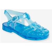 Baby Boys' Plastic Sandals for the Beach blue medium solid
