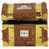 Pirate Treasure Chest Pi ±ata brown light solid with design