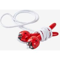 Wooden Ladybird Skipping Rope red dark solid with design