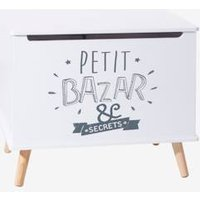 Storage Box with Screen-Printed Motif white light two color/multicol