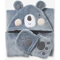 Koala Throw blue medium solid