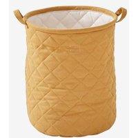 Padded Basket, Size L, Mauve yellow dark solid
