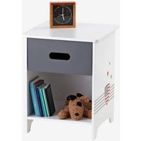 Bedside Table, American College Theme white