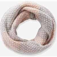 Double Length Snood for Girls grey light two color/multicol