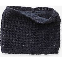 Thick Knit Snood for Boys green dark mixed color